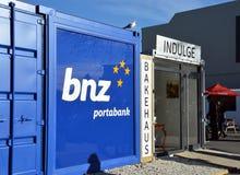 Christchurch Earthquake Rebuild - Portable Container Bank. royalty free stock photo