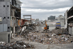 Christchurch Earthquake - Southern CBD Destroyed Royalty Free Stock Photography