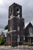 Christchurch Earthquake - St Marys Church Tower Stock Image