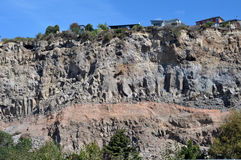 Christchurch Earthquake - Sumner Cliffs Collapse Stock Photo