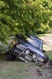 Christchurch-Erdbeben - Auto fällt in Sprung Stockfoto