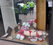 Christchurch-Erdbeben - Manequin Karosserien-Zoll-Anstiege stockbilder