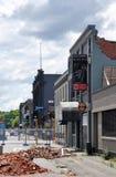 Christchurch-Erdbeben - südlicher Blau-Stab Stockbilder