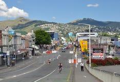 Christchurch-Erdbeben - Sydenham nach dem Beben Stockfotografie