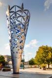 Christchurch, escultura do cálice, Nova Zelândia foto de stock