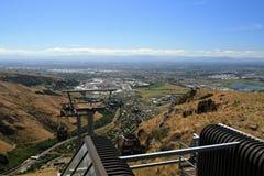 christchurch gondol New Zealand Fotografering för Bildbyråer