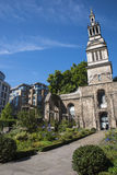 Christchurch Greyfriars Garden in London Stock Image