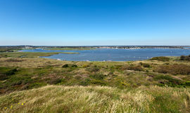 Christchurch Harbour From Hengistbury Head Royalty Free Stock Images
