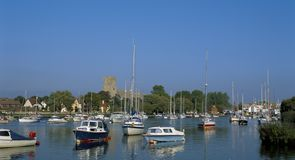 CHRISTCHURCH HARBOUR,DORSET. ENGLAND royalty free stock photography