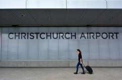 Christchurch internationell flygplats - Nya Zeeland Fotografering för Bildbyråer