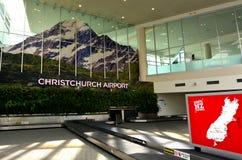 Christchurch internationell flygplats - Nya Zeeland Arkivbild