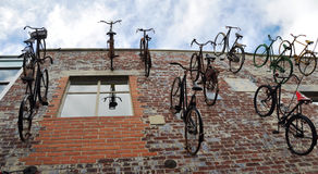 Christchurch New Zealand - Flock of Bicycles Royalty Free Stock Image