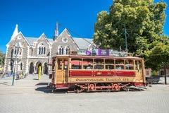 Christchurch, New Zealand - January 30 2018: Christchurch city center. Historic tram Stock Photos