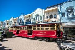 Christchurch, New Zealand - January 30 2018: Christchurch city center. Historic tram Stock Photography