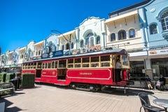 Christchurch, New Zealand - January 30 2018: Christchurch city center. Historic tram Royalty Free Stock Photos