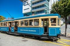 Christchurch, New Zealand - January 30 2018: Christchurch city center. Historic tram Royalty Free Stock Image