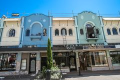 Christchurch, New Zealand - January 30 2018: Christchurch city center. Buildings Royalty Free Stock Images