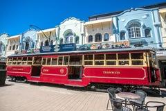 Christchurch, New Zealand - January 30 2018: Christchurch city center. Historic tram Royalty Free Stock Photo