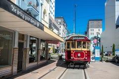 Christchurch, New Zealand - January 30 2018: Christchurch city center. Historic tram Stock Image