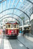 Christchurch, New Zealand - January 30 2018: historic tram in Christchurch. City center Royalty Free Stock Photography