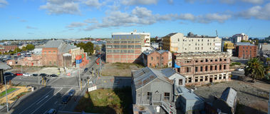 Christchurch Earthquake Aerial Red Zone Panorama royalty free stock image