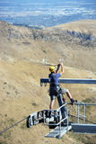 Dangerous Aerial Repair Work on the Christchurch Gondala. Stock Photography