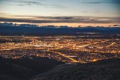 Christchurch Nightscape Royaltyfria Bilder
