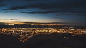 Christchurch Nightscape Royaltyfria Foton