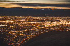 Christchurch Nightscape Arkivbild