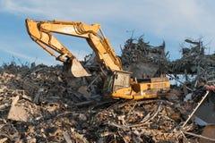 Christchurch, Nouvelle-Zélande - 20 mai 2012 : Afte fonctionnant d'excavatrice Photo libre de droits