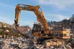 Christchurch, Nouvelle-Zélande - 20 mai 2012 : Afte fonctionnant d'excavatrice Images libres de droits