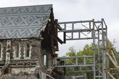 CHRISTCHURCH, NOWA ZELANDIA, LISTOPAD 08 - ikonowa Anglikańska katedra Fotografia Stock