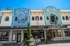 Christchurch, Nueva Zelanda - 30 de enero de 2018: Centro de ciudad de Christchurch imágenes de archivo libres de regalías