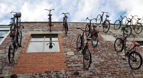 Christchurch Nuova Zelanda - moltitudine di biciclette immagine stock libera da diritti