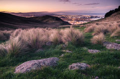 Christchurch, NZ, at sunset Royalty Free Stock Photography