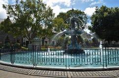 Christchurch påfågelspringbrunn arkivbilder