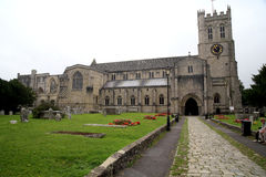 Christchurch priorsklosterkyrka, Dorset Arkivbilder