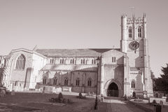 Christchurch Priory Facade, England; Britain Royalty Free Stock Photos