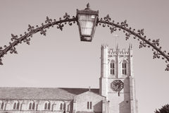 Christchurch Priory Facade, England; Britain Royalty Free Stock Photo