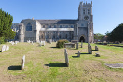 Christchurch Priory & Graveyard Royalty Free Stock Photos
