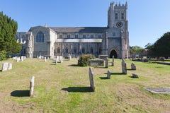 Christchurch Priory & Graveyard Royalty Free Stock Photos