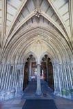 Christchurch Priory wejście Zdjęcia Stock