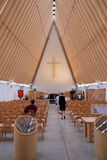 Christchurch rebuilds - cardboard cathedral Stock Images
