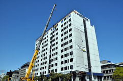 Christchurch Reconstruction - Hotel Demolished Royalty Free Stock Image