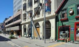 Christchurch-Rekonstruktion - Hereford Straße Lizenzfreies Stockbild