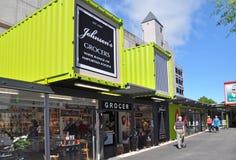 Christchurch-Rekonstruktion - Johnsons öffnet wieder Stockfotos