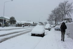 Christchurch Snowfall 2011 Stock Image