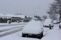 Christchurch Snowfall 2011 Royalty Free Stock Images
