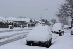 Christchurch Snowfall 2011 Royalty Free Stock Images