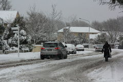 Christchurch Snowfall 2011 Royalty Free Stock Photography